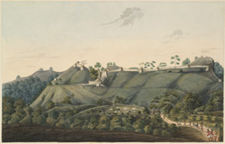 Encampment below the hill fort of Govardhangiri, Shimoga (Mysore). April 1806